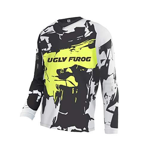 Uglyfrog 2019-2020 T-Shirt da Uomo a Manica Corta/Maniche Lunghe da Outdoor, Tuta da Downhill Jersey da Motocross Vestiti da Equitazione all'aperto (Color : 45Scelta, Size : XS-6XL)