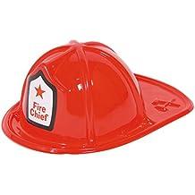 Casco del Jefe de Bomberos bombero para niños, 29 x 11 cm, de diámetro. Kopfpassung unos 17 cm