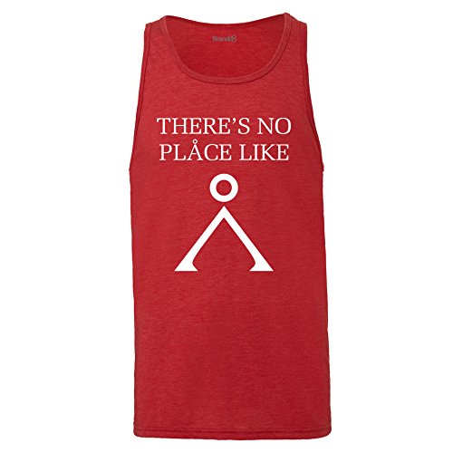 Brand88 - There's No Place Like, Unisex Jersey Weste Rot Meliert