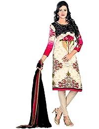 A K Designer Women's Chiffon Dress Material (Mehak9017_Free Size_Blue)