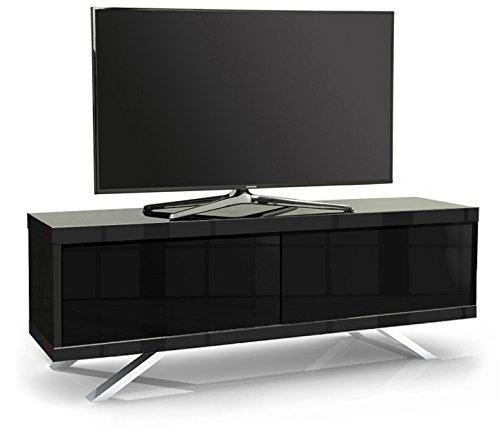 MDA Designs TUCANA 1200Hybrid Schwarz Beam durch Remote-Friendly 66cm-60flach Bildschirm schwarz glänzend TV Schrank -