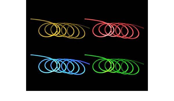 2 u.10 Meter 1-5mm  Lichtwellenleiter PMMA  Lichtfaser seitlich leuchtend