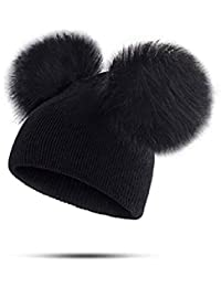 7fa9d4c82293 UMIPUBO Bonnets Enfants Chapeau d hiver Pompons Chapeaux bébé Beanie en  Tricot Chaud Garçon et Fille…