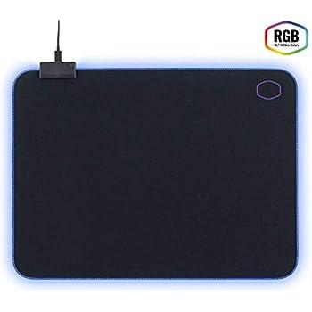 Cooler Master - MP750 - Tapis De Souris Gaming Souple RGB - Taille M (470 x 350 x 3 mm) Résitant A l'eau/Transpiration - Base Anti-Dérapante - Noir