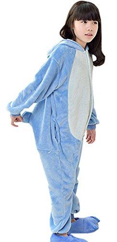 (KSFJV Schlafanzug Kinder Cosplay Onesies,Blue Stitch,115)