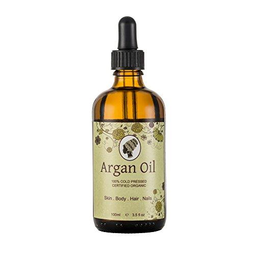 runakoh Argan Öl 100ml. 100% reine und zertifiziert Bio. Für Gesicht, Körper, Haar und Nägel. kaltgepresste, Premium Qualität, marokkanischen Öl.