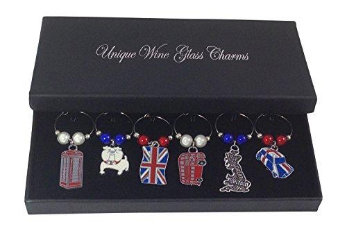 Colourful London Großbritannien Großbritannien England/UK Charm für Weingläser Lieferung erfolgt in einer Geschenkverpackung von Libby 's Markt