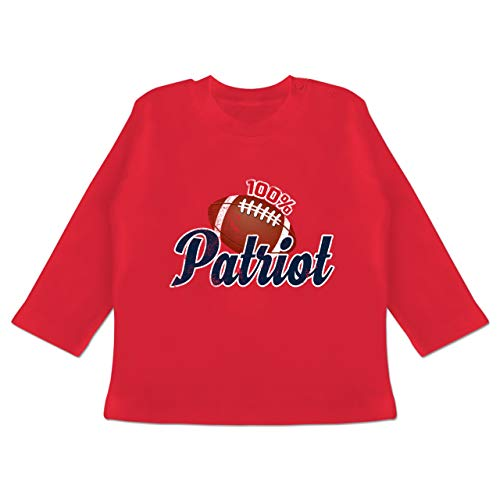Baby - 100% Patriot - 3-6 Monate - Rot - BZ11 - Baby T-Shirt Langarm (Super-bowl-shirts Langarm)