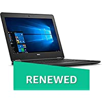 (Renewed) DELL Latitude E7270 12.5-inch Touch Screen Laptop (6th Gen Intel Core i7/8GB/512GB SSD/Windows 10/Intel HD Graphics 520), Black