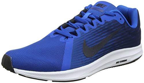 Nike Herren Downshifter 8 Laufschuhe, Blau (Blue Nebula/dark Obsidian-navy-white-black 401) , 44.5 EU (Running 8 Nike Größe Schuhe Herren)