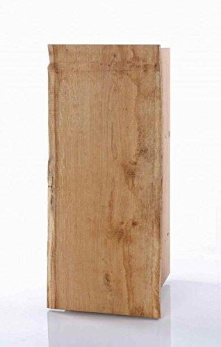 Skalik Garderobenschrank Flurkommode Schmal 1 Tür Woodline Eiche Massiv geölt B33 H83 T38