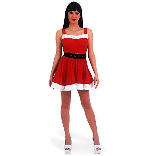 Carnival Toys 27030 - Damen Weihnachtskostüm, Einheitsgröße, rot/weiß