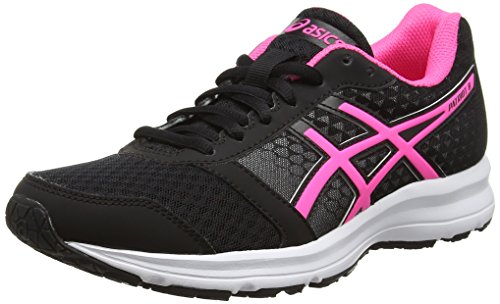 asics-patriot-8-w-zapatillas-de-running-para-mujer-negro-black-hot-pink-white-37-eu-4-uk