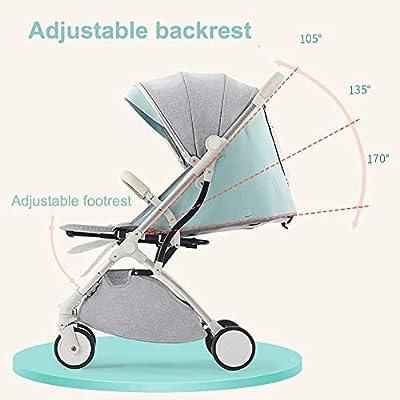 JYWXK - Silla de Paseo para niños (Doble Cara, Desmontable, Doble muñeca, Ultraligera, portátil, Plegable, para niños de 0 a 3 años)