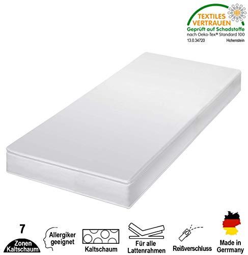 *cpt hydrovital 7-Zonen Premium Kaltschaummatratze – Matratze Härtegrad 2in1 H2 & H3 – Rollmatratze (80 x 200 x 12 cm, H3 = fest)*