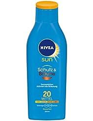 NIVEA SUN Sonnenlotion mit Bräunungs-Aktivierung, Lichtschutzfaktor 20, 200 ml Flasche, Schutz & Bräune