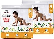 Mama Bear Amazon Brand - Mama Bear Baby Diaper Pants Monthly Mega-Box - Medium (M), 144 Count