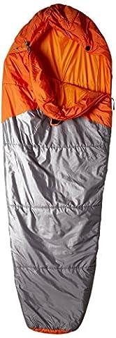 The North Face Unisex Aleutian Medium Left Hand Zip Regular Sleeping Bag, Monarch Orange/Zinc Grey