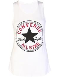 Converse Star Débardeur avec motif imprimé pour femme et fille – Taille 36–42/ 36–38(S/M), crème