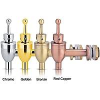 Delaman Grifo para Cerveza - Grifo de Vino, Grifo para Cerveza, Cobre, Grifo para Revestimiento, Vástago de Barril, Barra de Cocina Homebrew (Color : Chrome)
