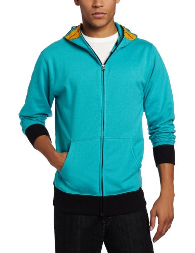 Phineas & Ferb Men's I am P Fleece Hoodie, Turquoise, Large