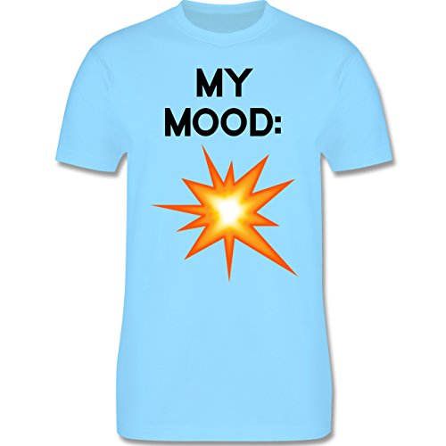 Statement Shirts - My Mood: Explosion - Herren Premium T-Shirt Hellblau
