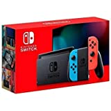 Nintendo Switch with neon red and neon blue Joy‑Con - Version 2 - HAC-001(-01)