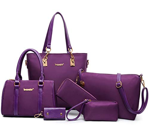 MainFourre Titulaire De Tout Carte Bag La Portefeuille Pu Pochettes 6pcs Bandoulière Fivelovetwo Mode Sac À Cuir Portés Femmes Set 5RALj34