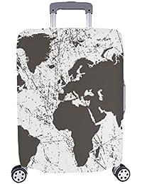 Cubierta con Maleta Protectora para Equipaje de Viaje, Maleta con Ruedas, Mapa del Mundo