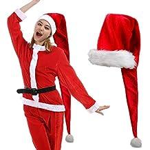 iMucci 155 cm Rosso Natale Cappello di Babbo Natale con Pompon 0ae51644d98a