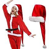 iMucci Sombrero de Papá Noel Largo de Felpa Decoración de Navidad Disfraz para Adulto 150cm