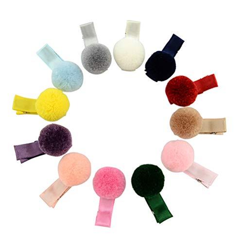 10 Stk.Baby Haarspange Haarschmuck Süße Haarclip Plüsch Ball Haarband Für kleinkind Baby Mädchen