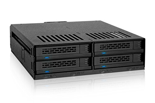 Wechselrahmen für 4x 2,5 Zoll (6,4cm) SATA/SAS SSD/HDD in 1x 5,25 Zoll (13,3cm) - Icy Dock ExpressCage MB324SP-B