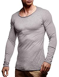 ♚Hombres Camisas Delgadas,Otoño Invierno O Cuello de Manga Larga Casual Patchwork Tops Blusa