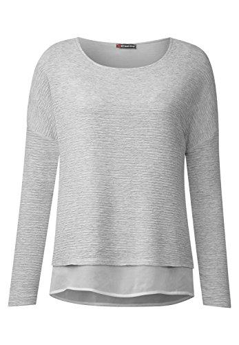 Street One Damen Lagenlook Struktur Shirt cyber grey melange (grau)