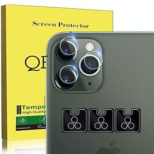 """QHOHQ Caméra Arrière Protecteur pour iPhone 11 Pro(5.8""""), iPhone 11 Pro Max(6.5""""), [3 Pièces] [Dureté 9H] Verre Trempé Haute définition Anti-Rayures Protection écran"""