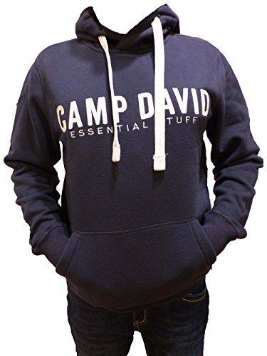 CAMP DAVID SWEATSHIRT WITH HOOD BLUE NAVY ESSNTIAL STUFF 2018 CCB-1855-3044 M L XL XXL XXXL (L)