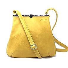 840cd5f09a9ee Ledertasche Handtasche Tasche Umhängetasche Henkeltasche Leder Vintage  sonnengelb.
