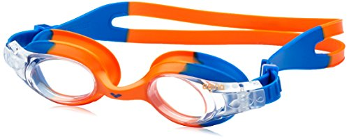 arena Kinder Unisex Training Freizeit Schwimmbrille X Lite Kids (UV-Schutz, Anti-Fog, Harte Gläser), Blue Orange-Clear (73), One Size