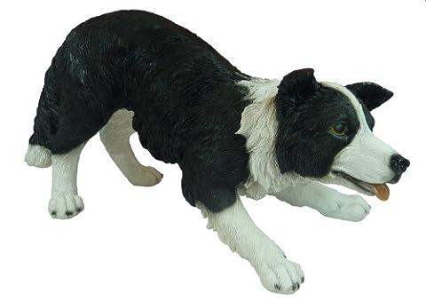 Real Life Medium Sheepdog Garden Ornament (SizeF)