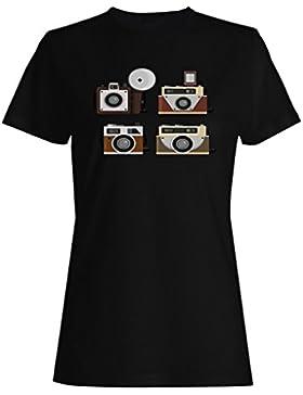Nuevas Cámaras Clásicas Vintage camiseta de las mujeres h504f