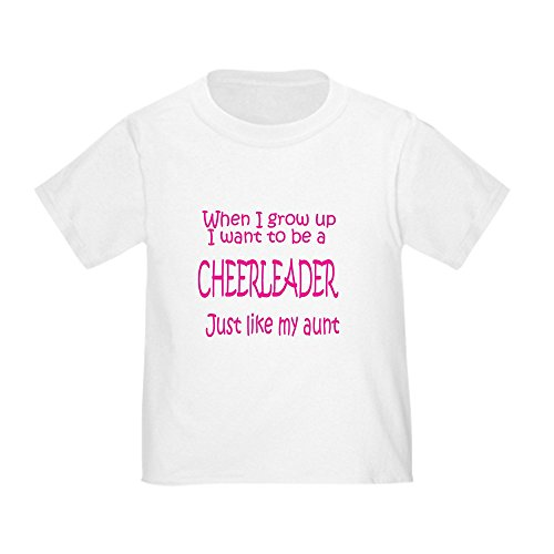 aa7effb8adf CafePress - CheerBaby.just Like Aunt Toddler T-Shirt - Cute Toddler T-