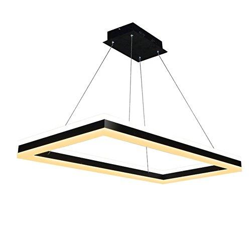 BJVB Su E Giù incandescenza LED acrilico Chandelier Modern Living Room Piazza sala da pranzo Luce studiare l'atmosfera Living Room Lampade Lampadari -Light e luce bianca Combinazioni