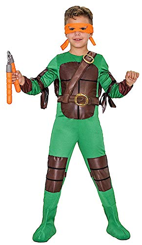 KOSTUumlM Fasching Karneval Turtle Boy fuumlr KARNAVALKOSTUumlME Fancy Dress Halloween Cosplay Veneziano Party 51045 Size 9/L (Mädchen Turtle Kostüme Ninja Halloween)
