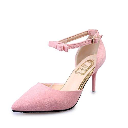 Chaussures de printemps/Asakuchi talons pointus/Chaussures avec boucle de ceinture C