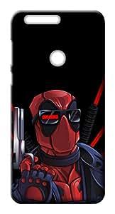 Mott2 Back Case for Huawei Honor 8 | Huawei Honor 8Back Cover | Huawei Honor 8 Back Case - Printed Designer Hard Plastic Case - superhero- Deadpool theme