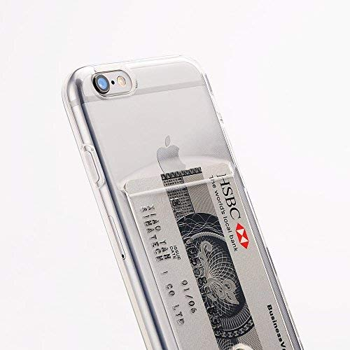 Funda carcasa Apple iPhone 5, 5S o SE de silicona con tarjetero para guardar 1-2 tarjetas.