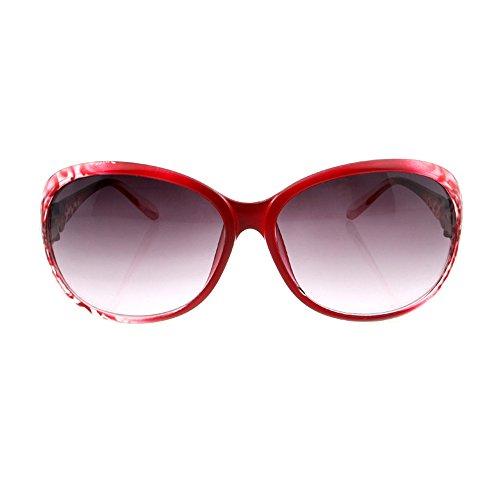Decha Damen Sonnenbrille Klassische Runde Polarisierte Brille Große Schachtel Spiegel Sonnenlicht...
