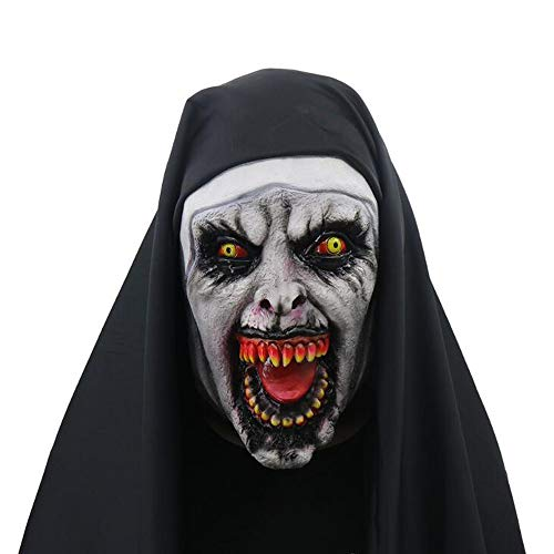 Cosplay Nun Maske Halloween Horror Beängstigend Weibliche Ghost Face Party Supplies