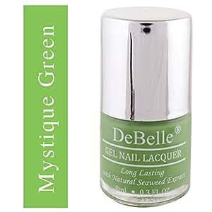 DeBelle Gel Nail Lacquer Mystique Green - 8 ml (Pastel Green Nail Polish)
